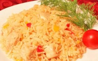 Курица с рисом в казане - фото шаг 5