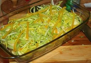 Кабачки с картошкой в духовке - фото шаг 2