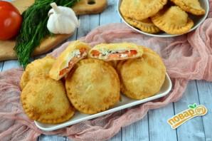 Пирожки с фетой, помидорами и зеленью - фото шаг 14