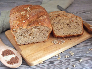 Хлеб из цельнозерновой муки с семечками - фото шаг 11