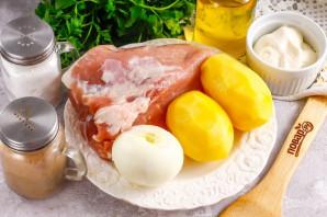 Картошка с мясом в духовке - фото шаг 1