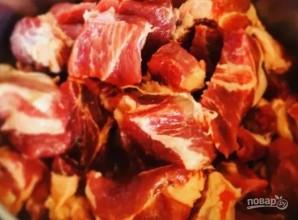 Свиной гуляш в кисло-сладком соусе - фото шаг 1