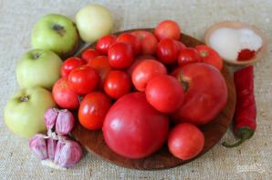 Томатно-яблочный соус на зиму - фото шаг 1