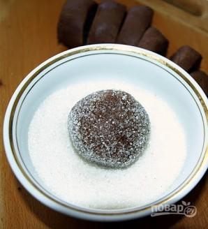 Печенье с карамелью в шоколаде - фото шаг 8