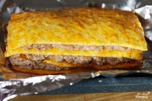 Слоеный сырный пирог с куриным фаршем - фото шаг 9