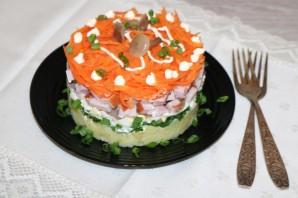 Слоёный салат с ветчиной и грибами - фото шаг 9