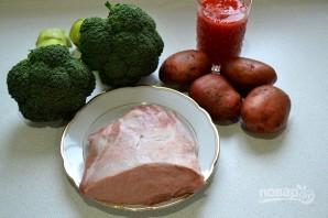 Картофель с мясом и брокколи - фото шаг 1