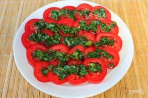 Острая закуска из помидоров с зеленью и сыром - фото шаг 5