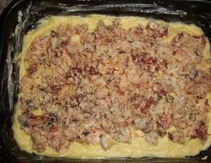 Пирог с картошкой и рыбными консервами - фото шаг 2