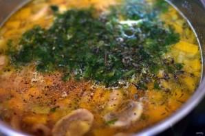 Суп с тыквой и грибами - фото шаг 6