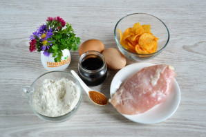 Куриная грудка в чипсах в духовке - фото шаг 1