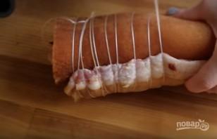 Рулет из сала с курицей по-украински - фото шаг 5