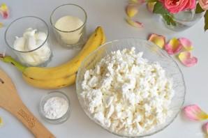 Творожная запеканка с бананами - фото шаг 1