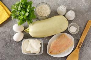 Рулет из кабачков с семгой и сыром