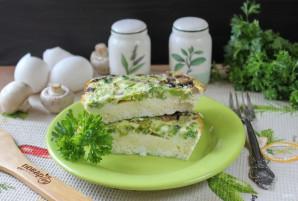 Омлет с брокколи и грибами - фото шаг 11