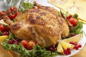 Курица, фаршированная овощами, в духовке - фото шаг 5
