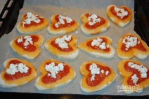 Мини-пиццы в форме сердца на 14 февраля - фото шаг 8