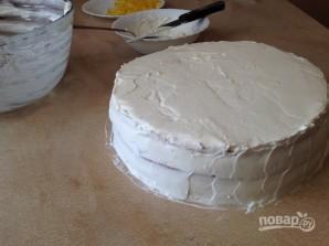 Бисквитный торт с лимонным вкусом - фото шаг 13