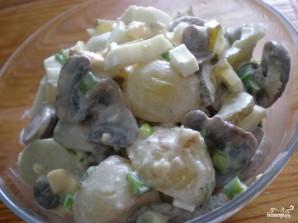 Салат картофельный с грибами - фото шаг 5