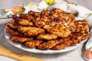 Куриные оладьи с сыром на кефире - фото шаг 6