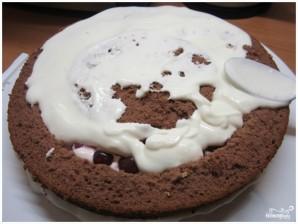 Бисквитный торт с вишней - фото шаг 9