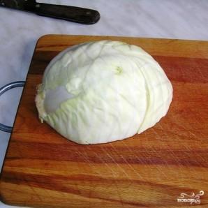 Постный пирог с капустой - фото шаг 7