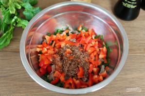 Салат с мясом и соевым соусом - фото шаг 5