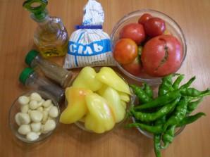 Аджика острая из помидоров и чеснока - фото шаг 1