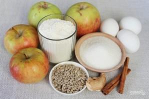 Шарлотка с пряными яблоками и семечками - фото шаг 1