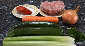 Быстрый овощной суп со свининой - фото шаг 1