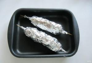 Картофель на шпажках в духовке - фото шаг 7