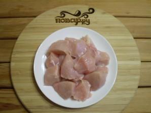 Куриные шашлычки на шпажках в духовке для детей - фото шаг 5