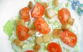 Салат из пекинской капусты и сухариков - фото шаг 4