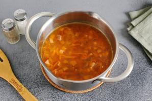 Рисовая каша с колбасой - фото шаг 6