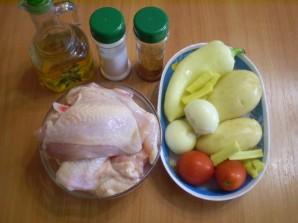 Курица, запеченная с картофелем и овощами - фото шаг 1