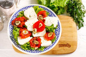 Салат с вялеными помидорами и рукколой - фото шаг 4