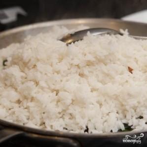 Рис со шпинатом и сыром - фото шаг 5