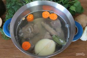 Зеленый борщ с говядиной - фото шаг 3