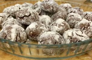 Треснутое шоколадное печенье - фото шаг 5