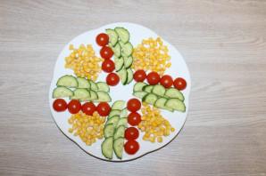 Салат с куриной грудкой и помидорами - фото шаг 4