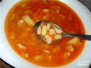 Фасолевый суп без мяса - фото шаг 7