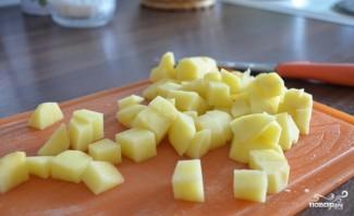 Сырный суп с гренками - фото шаг 1
