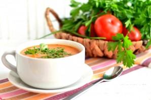 Суп томатный с овощами и плавленым сыром - фото шаг 8