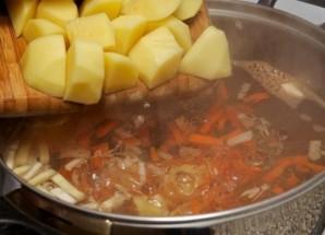 Грибной суп из замороженных грибов   - фото шаг 5