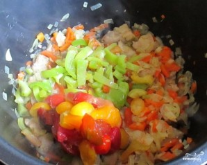 Овощи со свининой в мультиварке - фото шаг 5