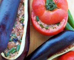 Овощи, фаршированные фаршем - фото шаг 6