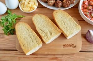 Сэндвич с мясными шариками - фото шаг 8