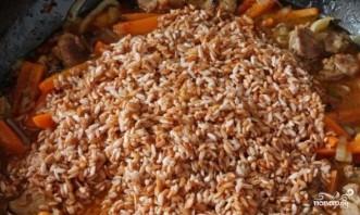 Плов из бурого риса со свининой - фото шаг 9