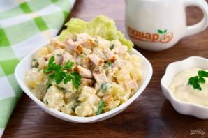 Пряный картофельный салат с курицей - фото шаг 6