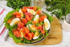 Салат с красной рыбой и грейпфрутом - фото шаг 6